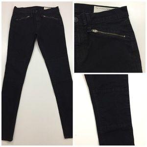 RAG & BONE Zippered Pocket Moto Slim Skinny Jeans